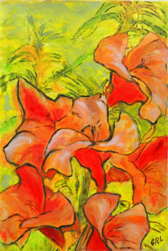 DAYLILIES - a Fine Art Original Painting