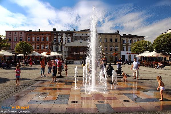 Rynek w Kościerzynie - fontanna
