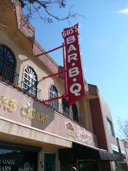 vintage restaurant bbq gus