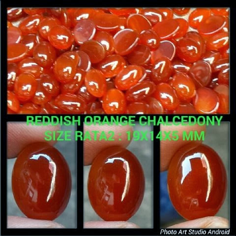 Reddish Orange Chalcedony
