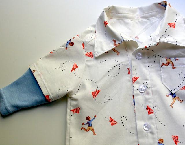 PR&P Tutorials, Week 3 - Baby Boy Button Up - The Sewing Rabbit