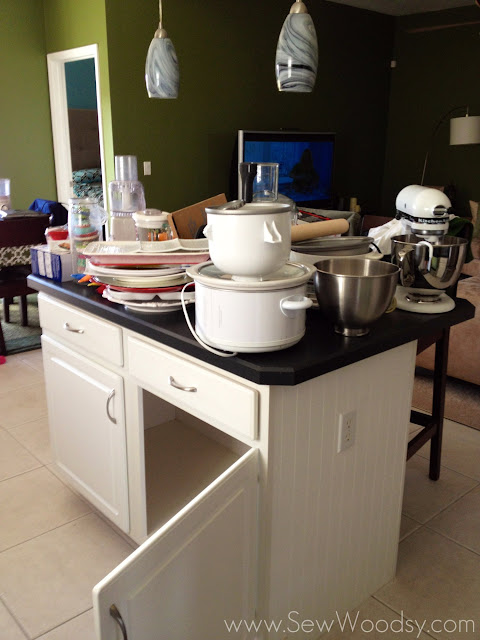clean out the kitchen island