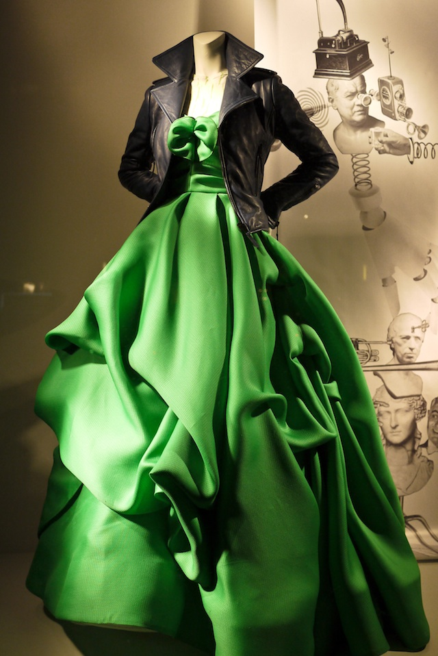 My Aesthetica: Leather jackets with formal gowns