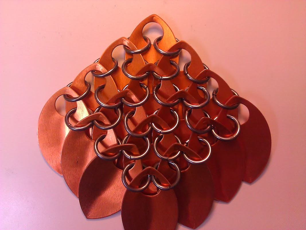 Reverse view of standard scalemaille
