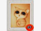 Tranh đính đá: Mèo con