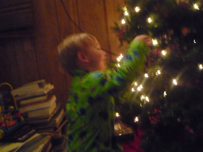 Decorating the tree