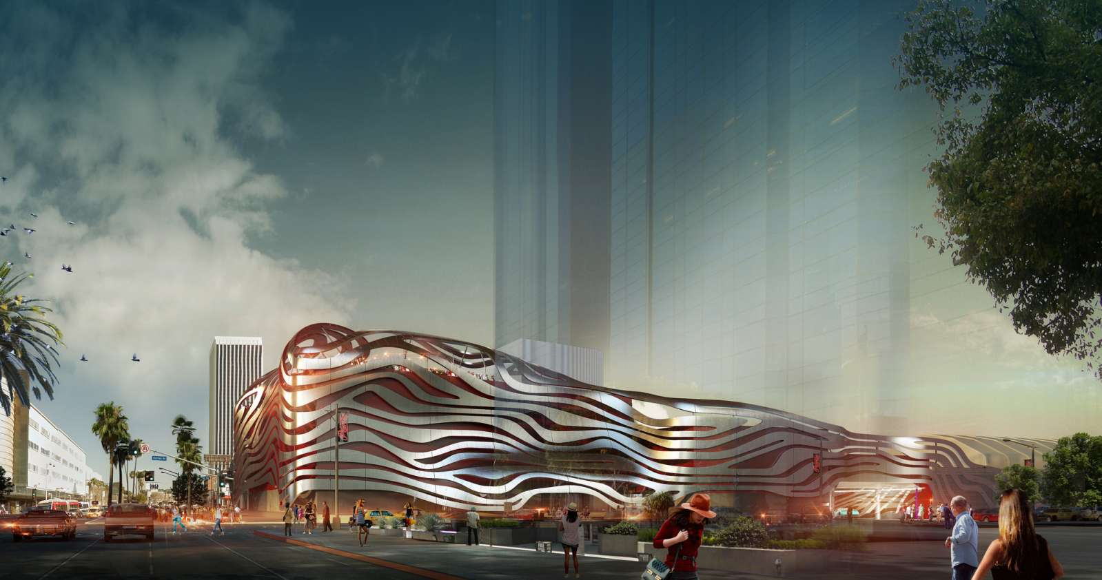 Los Angeles, California, Stati Uniti: Petersen Automotive Museum Building Renovation by Kohn Pedersen Fox