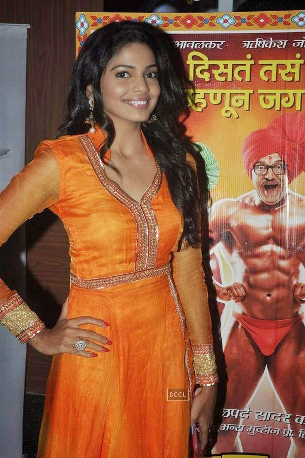 Pooja Sawant during the screening of Poshter Boyz, in Mumbai, on July 30, 2014. (Pic: Viral Bhayani)<br />