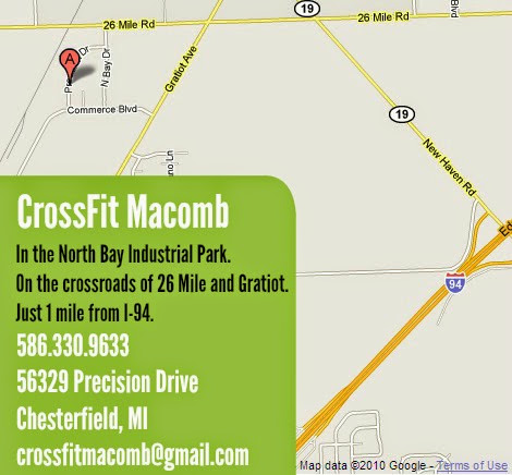 Map to CrossFit Macomb