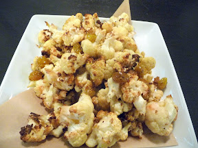 Sandwiches and Sides at Picnic House, Portland, Roasted cauliflower with sherry vinegar macerated golden raisins and shallots