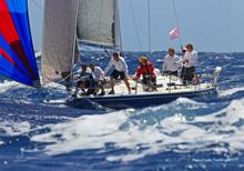 J/120 offshore sailboat- sailing St Maarten Heineken Caribbean Regatta