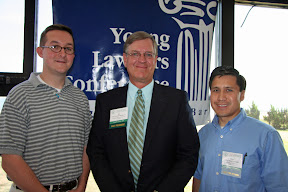 Judge Burnette with award winners Ken Alger and Hugo Valverde (2008)