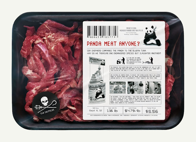 Serving Panda Meat To Save The Bluefin Tuna PSA Campaign