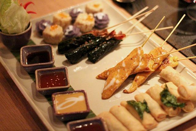 patara fine thai cuisine appetizer platter