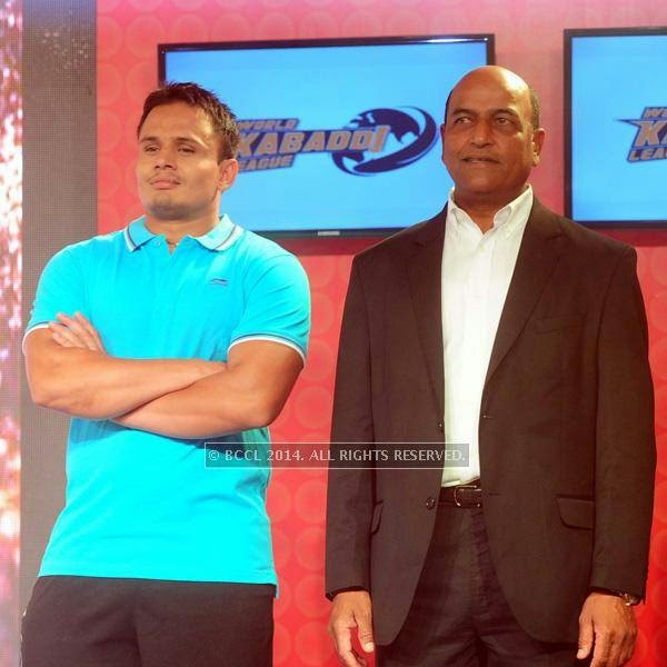 Baldev during the launch of World Kabaddi League, held at Le Meridian, New Delhi, on July 24, 2014.