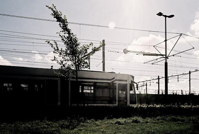 A tram in Amsterdam