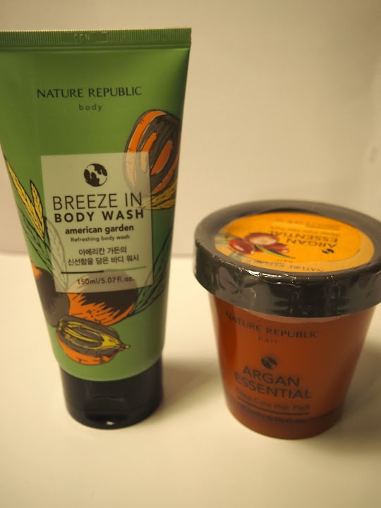 nature repubric Body washとargan essential