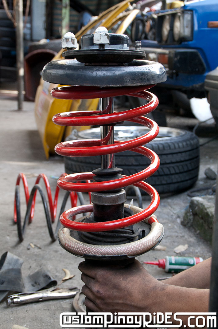 Custom Pinoy Rides Nissan Cefiro A32 VIP Style Lowering Spring Install pic14