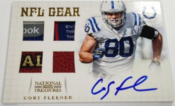 2012 Panini National Treasures NFL Gear Coby Fleener Auto