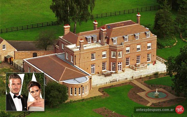 La casa de David y Victoria  Beckham