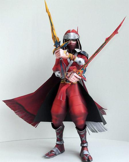 Ninja Onion Knight Paper Model