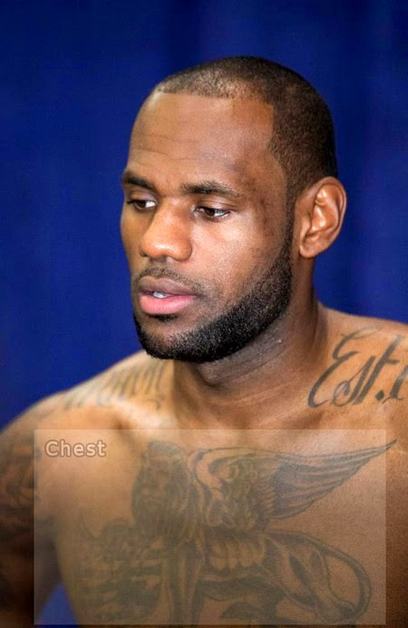 lebron james tattoo 802 shoulder akron est 1984 small Tattoos
