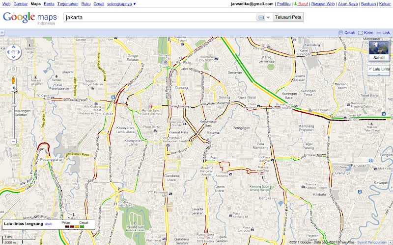 Traffic on Google Map