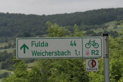 Wegweiser D-Route 9