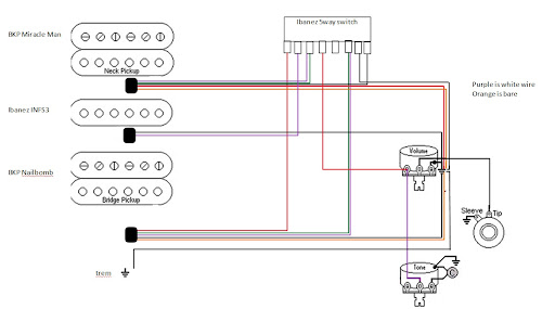 Lace Alumitones with Ibanez 5way Switch – Ibanez Guitar Pickup Switch Wiring Diagram
