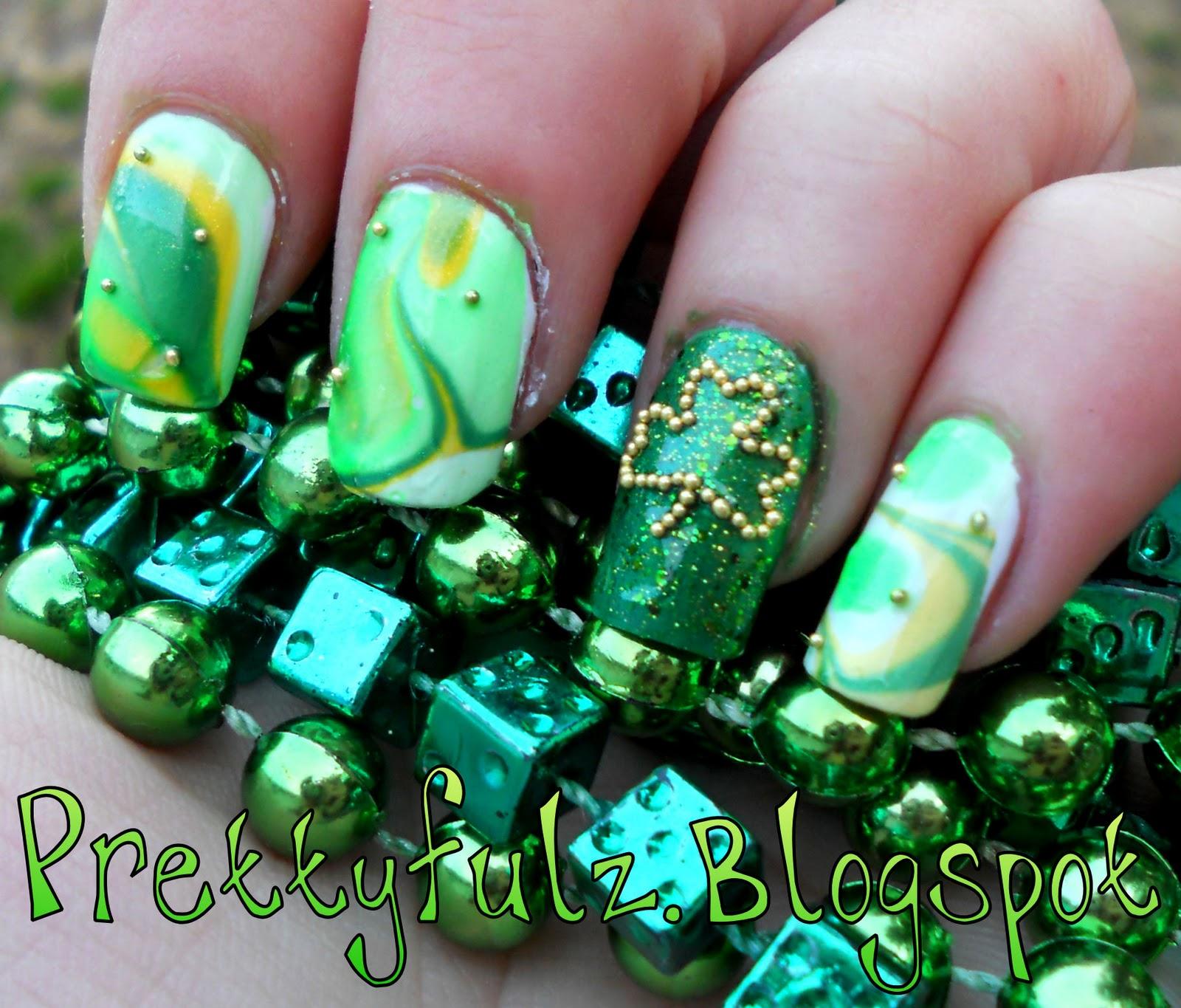 Prettyfulz: St. Patrick's Day Nail Art Design