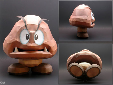 Super Smash Bros Brawl Goomba Papercraft