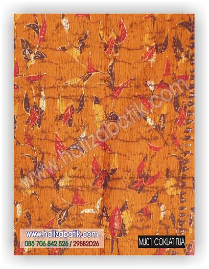 Kain Batik Murah, Seragam Batik, Baju Batik Modern, MJ01 COKLAT TUA