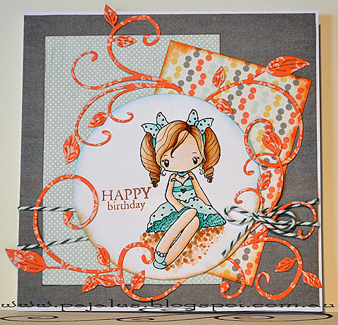 Birthday Girl Card by Paula Laird and used with permission. May 20, 2013