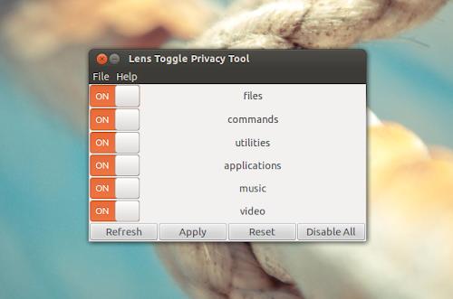 Lens Toggle su Ubuntu
