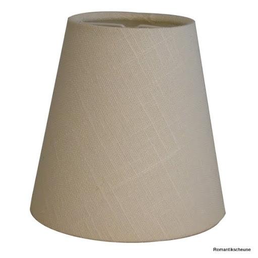 Lampenschirm kap klemme 11 7 11 cm leinen weiss e14 ebay for Lampen zur scheune