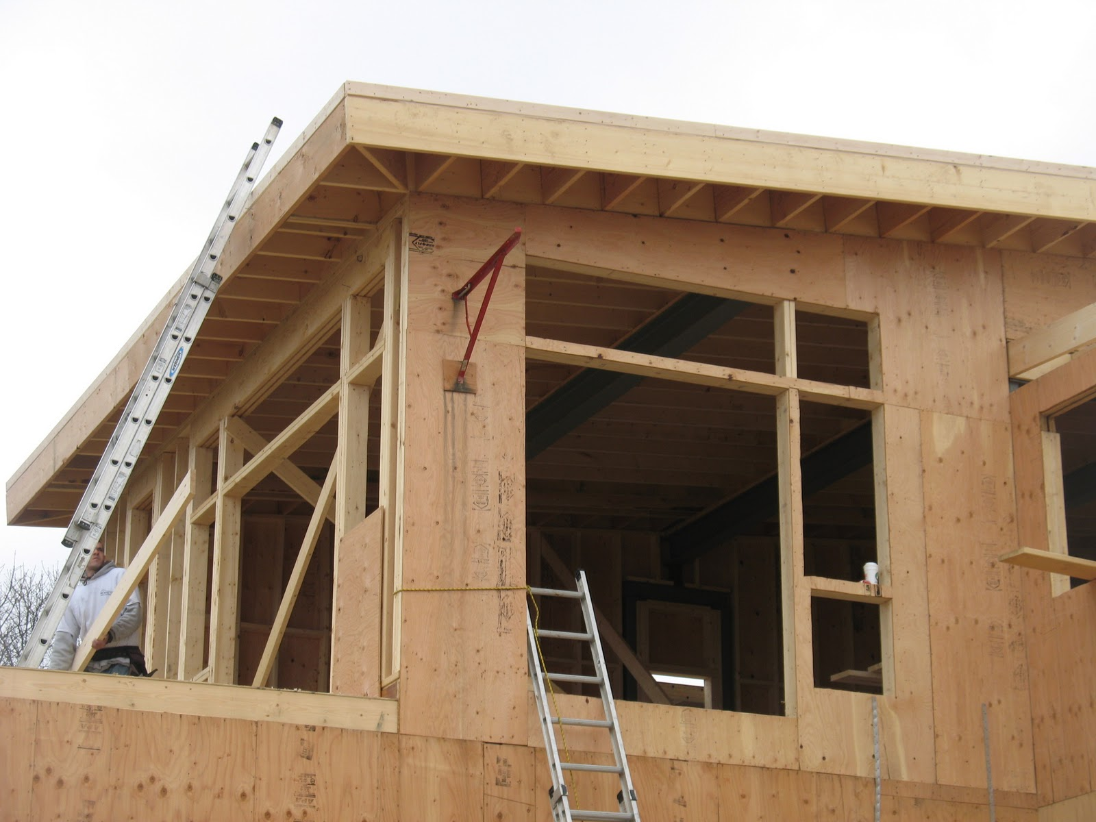 Net Zero Energy Cape Cod Roof Framing Complete