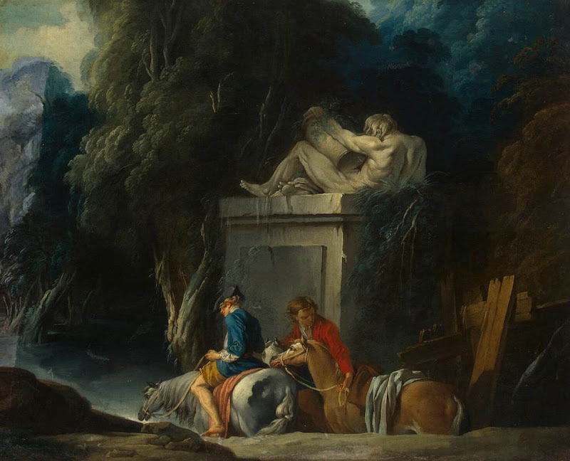 Francois Boucher - Crossing the Ford
