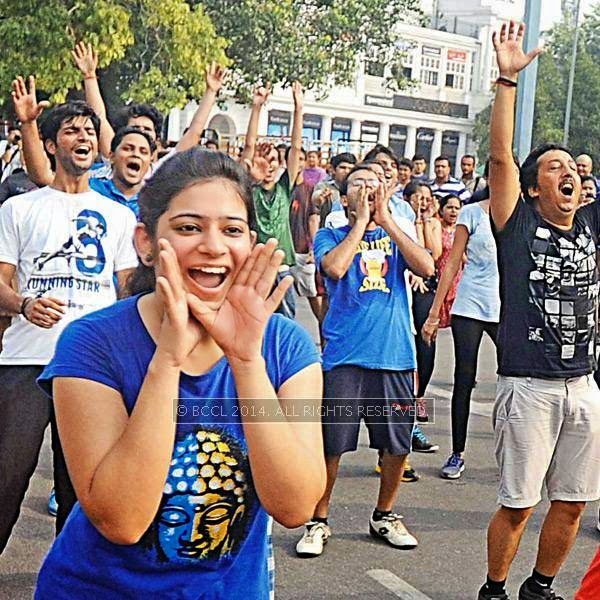 The Raahgiri Day, held at Connaught Place's Inner Circle, in New Delhi.