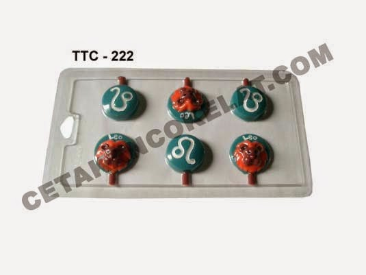 Cetakan Coklat TTC222 Zodiac Leo