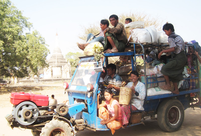 Local transport in Bagan, Myanmar