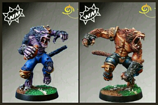 Hombres lobo Blood Bowl Willy miniatures