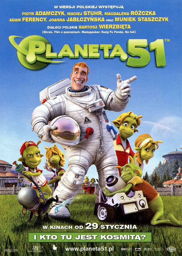 Ulotka filmu 'Planeta 51 (przód)'