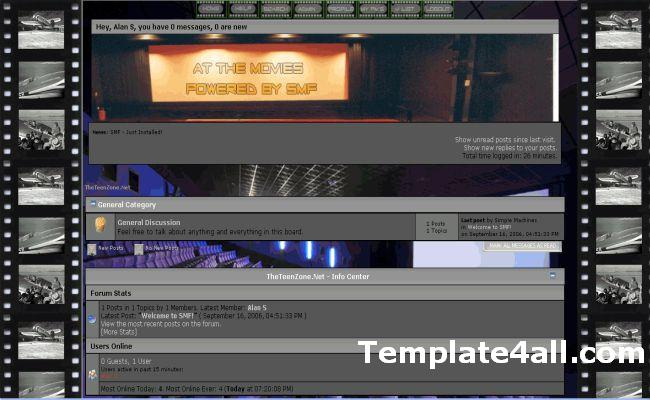Free Movies Blog SMF Theme Template