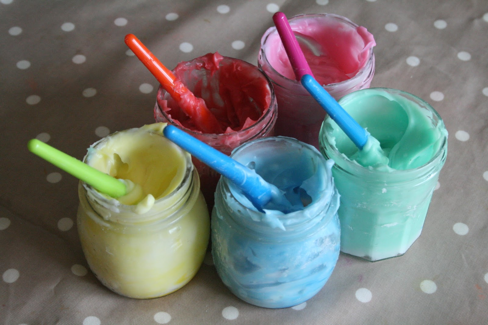 Homemade Edible Finger Paint Recipe - The Imagination Tree