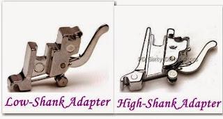 Adaptadores para prensatelas de caña alta y caña baja