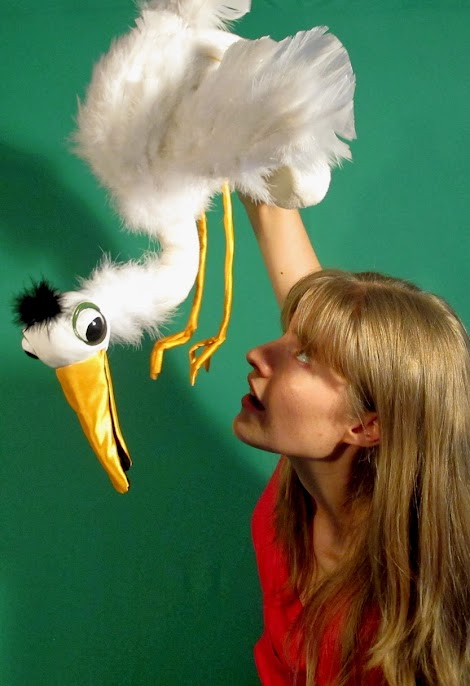 Great Egret puppet, custom build