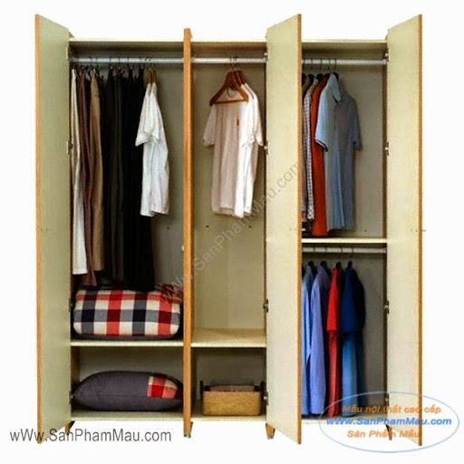 Chia tủ quần áo nhỏ để quần áo gọn gàng
