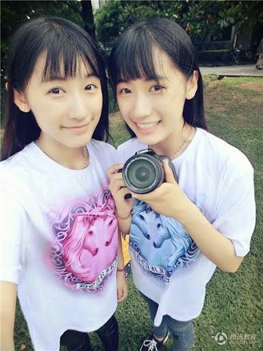 復旦雙胞胎姐妹校花曬自拍合照走紅
