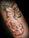Butterfly and Rose Tattoo Ideas 6