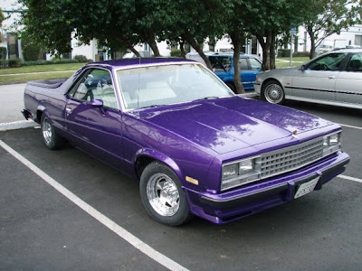 El Camino painted Purple Pearl by Almost Everything